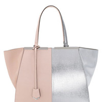 Fendi Trois-Jour Grande Leather Tote Bag, Pink/Silver