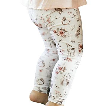 TELOTUNY Baby Leggings newborns clothes clothing 6-24 months Cute Floral Print Pants legging u71225