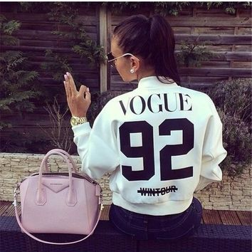 Vogue 92 On Sale Sports Zippers Long Sleeve Baseball [9541465415]
