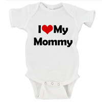 I <3 My Mommy/Custom Name Gerber Onesuit ®