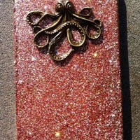 Bronze Octopus Glitter Iphone 4 4s Hard Case | Luulla