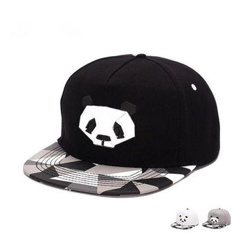 DCCKU62 fashionspring and summer  lovers baseball cap hip-hop hat male Ms. cute panda zebra rubber   hatsnapback Flat-brimmed hat