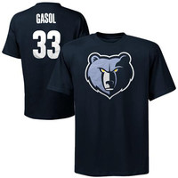 Majestic Marc Gasol Memphis Grizzlies Player T-Shirt - Navy Blue