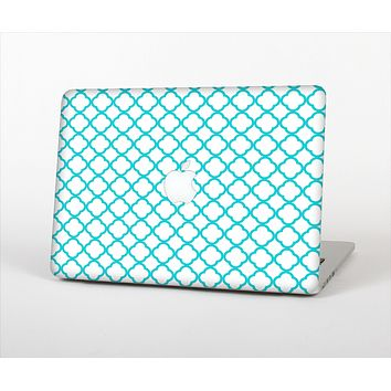 The Moracan Teal on White Skin Set for the Apple MacBook Air 11""
