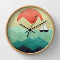 Ocean Adventure Wall Clock by Digi Treats 2