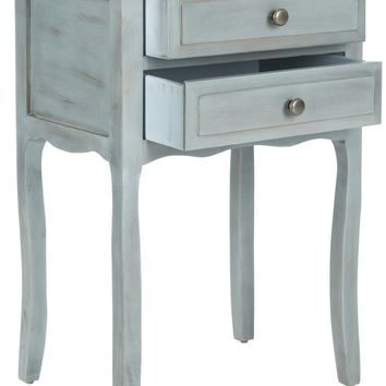 Lori End Table With Storage Drawers Barn Blue
