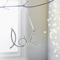 Beaded Love Tree Decoration | Christmas Room Decorations | The White Company UK