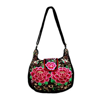 National Trend Ethnic Embroidered Shoulder Bags