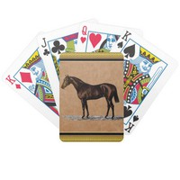 Brown Horse Bicycle Playing Cards