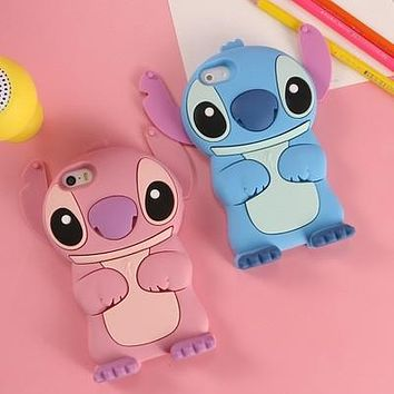 cartoon Lilo Stitch model silicon 3D Stitch Anime cover Case For iPhone 7 5s SE 6s 6 plus S3 S4 S5 S6 S7 Edge J5 A5/7 Grand Prim