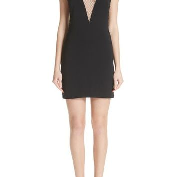 Stella McCartney Mesh & Cady Cocktail Dress | Nordstrom