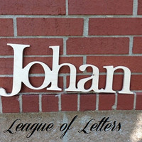 8 inch CONNECTED Wooden Letters-Price PER letter