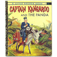 Captain Kangaroo and the Panda Little Golden Book 278 Vintage 1950s Kids