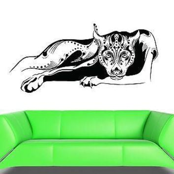 Wall Decal Art Panther Animal Roar Wildcat Vinyl Stickers Unique Gift (ed009)
