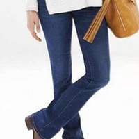 Deep Blue Mid-Waisted Boot Cut Jeans