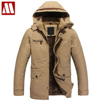 Winter men's clothing Military Jacket with hood Army