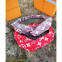 Louis Vuitton LV  & Supreme Fashion Print Silk Sports Headband