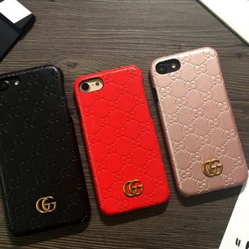 One-nice™ GUCCI Fashion iPhone Phone Cover Case For iphone 6 6s 6plus 6s-plus 7 7plus