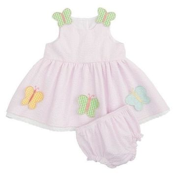 Outlet Elegant Baby Butterfly Dress with Bloomer