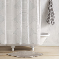 Sazid Gray / Charcoal Shower Curtain by John Robshaw