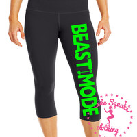 BeastMode Performance Workout Capris. Fitness Capri. Gym Pants. Cross Training Capri. Gym Leggings. Yoga Leggings. Compression Pants.