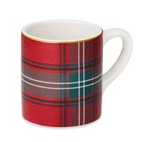 Tartan Mugs, Set of 4, Red