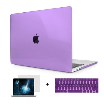 Logo See Through Crystal Finish Hard Case For Macbook Pro 13 15 New 2017 & 2016 With/Out Touch Bar A1706 A1707 A1708  AIR 11 12