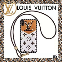 Free Shipping-LV Vintage Presby Wrist Strap iphone 11 Mobile Shell #2