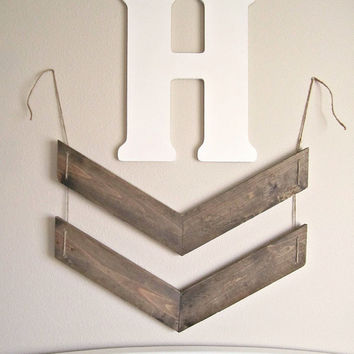 Hanging Chevron Arrows // Rustic Wall Arrows // Woodland Tribal Nursery Decor