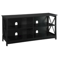 Oxford TV Stand - Black - Convenience Concepts : Target