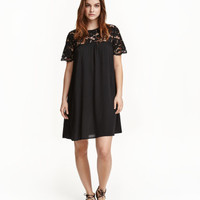 H&M Dress with Lace Yoke $39.99