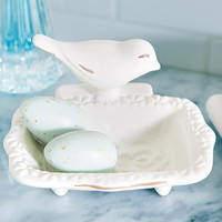 Kitchen & Dining - White Bird Soap Dish