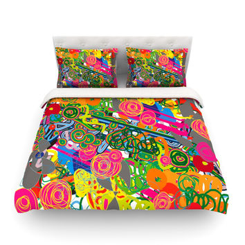 "Frederic Levy-Hadida ""Psychedelic Garden"" Featherweight Duvet Cover"