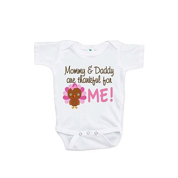 Custom Party Shop Baby Girl's Thankful For Me Thanksgiving Onepiece