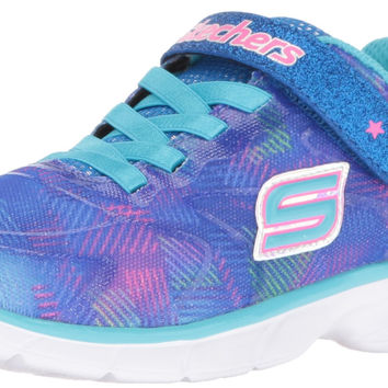 Skechers Kids Girls Spirit Sprintz-Rainbow Raz Sneaker Blue/Multi Toddler (1-4 Years) 10 M US Toddler '