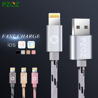 PZOZ Lighting Cable Fast Charger Adapter Original USB Cable For iphone 6 s plus i6 i5 iphone 5 5s ipad air2 Mobile Phone Cables