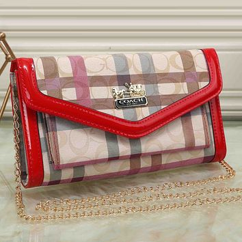 Burberry Women Shopping Leather Chain Shoulder Bag Satchel Crossbody