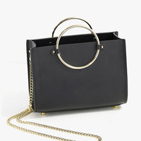 Mini Leather Chain Handbag