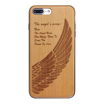BOOGIC 2017 Hot Sale Retro Nature Wood + TPU Back Case for Apple iPhone 7 6sPlus5 5SE Cover Wooden Cases in Stock
