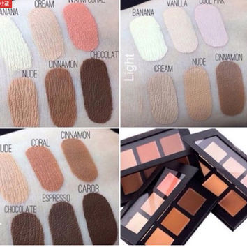 HOT Contour Cream Kit Palette 6 Colors Beverly Hills Concealer Brand Makeup Set Primer Deep/ Light / Medium Bronzer Highlighter