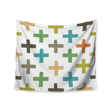 "Daisy Beatrice ""Hipster Crosses"" Multicolor Wall Tapestry"