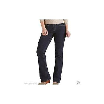 Signature By Levi Strauss & Co Women's Curvy Bootcut Jeans, 6L, Midnight