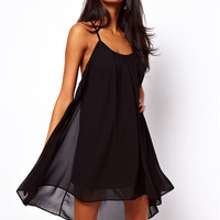 Strappy Chiffon Casual Dress