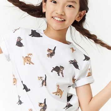 Girls Cat Graphic Tee (Kids)