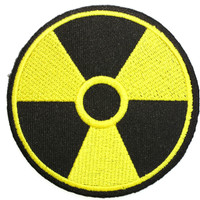 "BIOHAZARD Nuclear Zombie Sign Iron On Embroidered Patch 3""/7.5cm"
