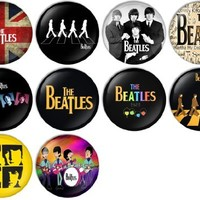 The Beatles Set 1 Pinback Buttons Badges/Pin 1 Inch (25mm) Set of 10 New