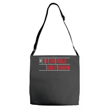 my best round is the 19th hole funny golf drinking Adjustable Strap Totes