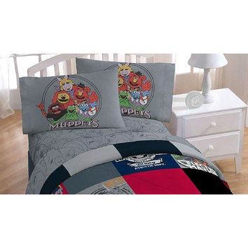 Disney Muppets Vintage Silhouettes 3Pc Twin Bed Sheet Set