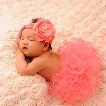 Newborn baby girls cute headband headwear dress skirt photography props costume clothing set 1945966212