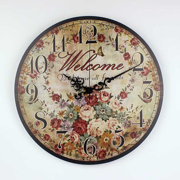 vintage wall clock home decoration large decorative wall clock absolutely silent living room decoration wall clock watch
